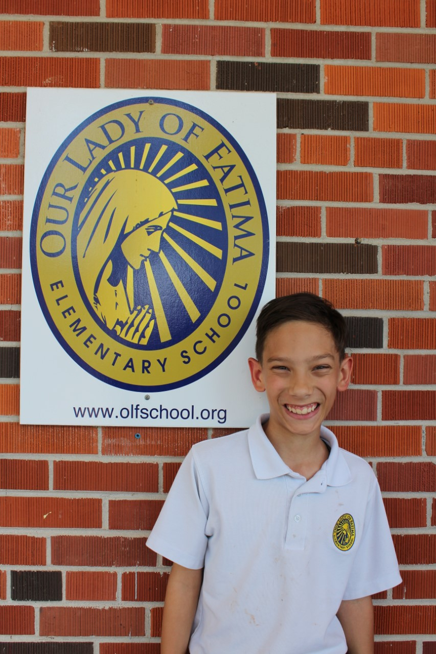 6th Grader Shane Dohrer Represented OLF Elementary in Jackson at the State Geography Bee