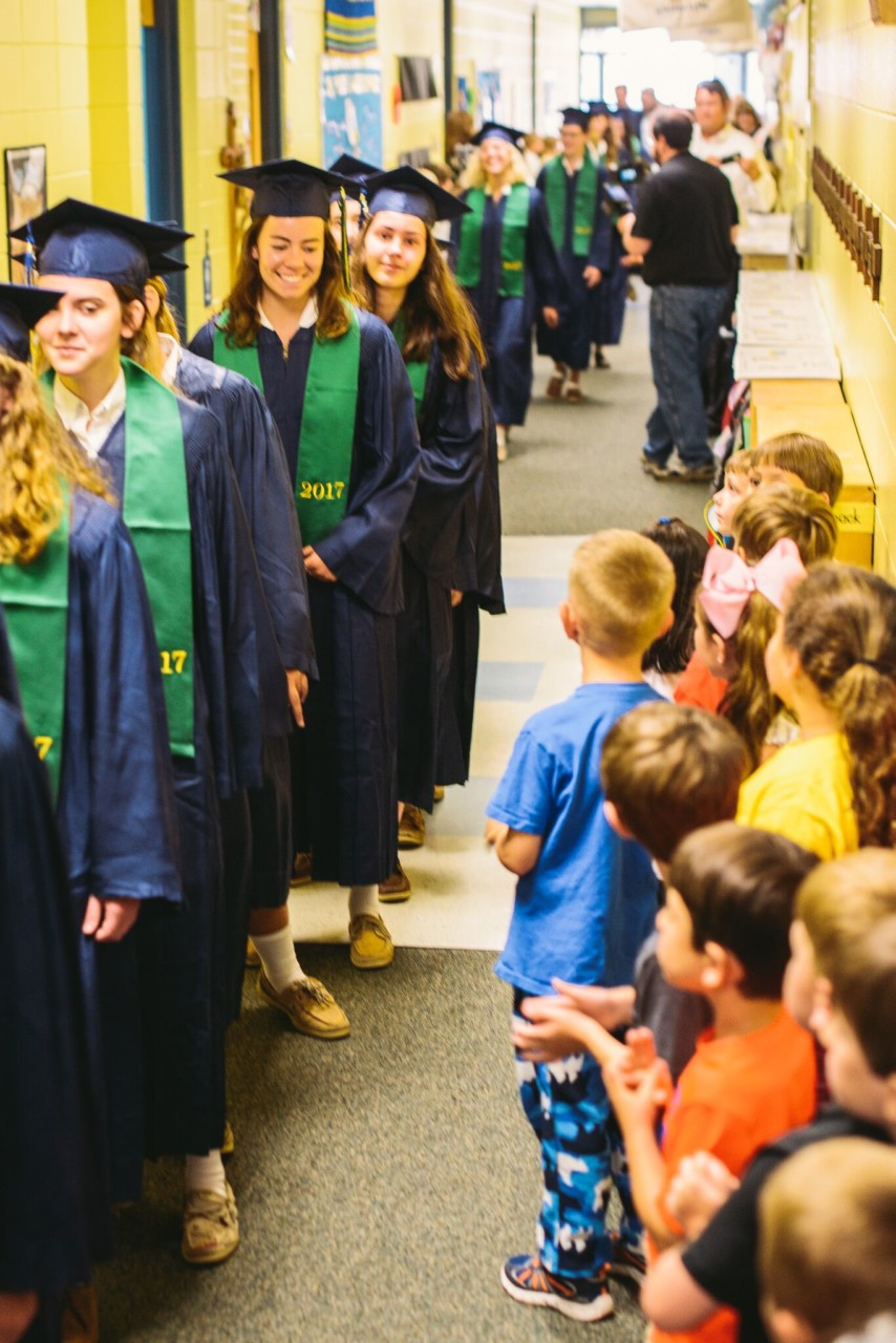 OLF students congratulate the 2017 graduating class of St. Patrick HS
