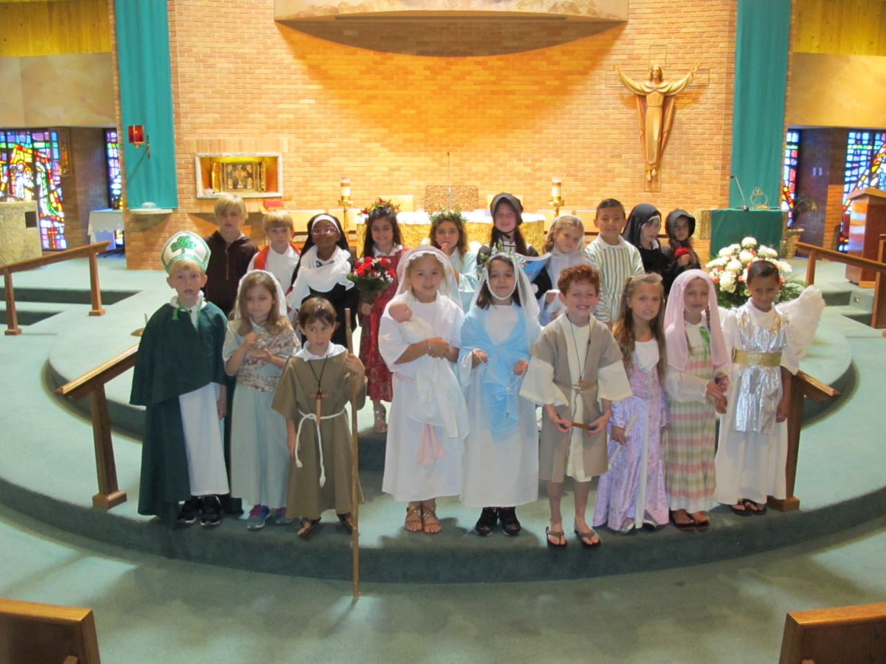 2nd graders perform at All Saint's Day